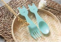 Cat spoon & fork